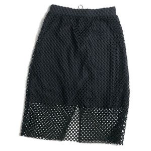 H&M Divided XS zip up Netted Skirt